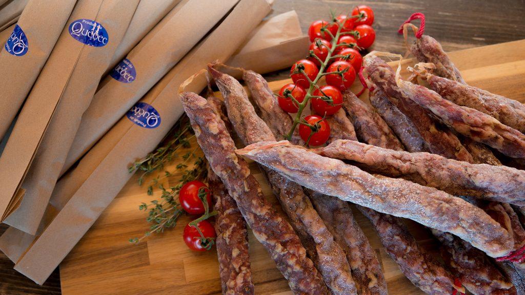 Plateau de saucissons chorizo québécois